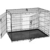 Double Door Folding Metal Dog Crate