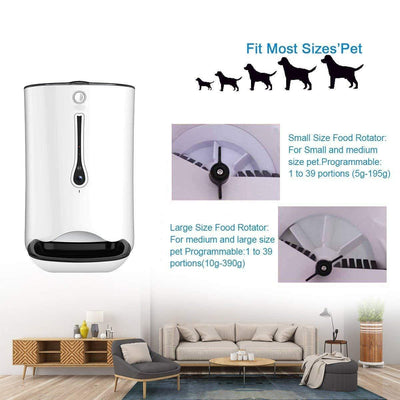 Auto Pet Feeder With Timer Programmable