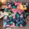3/4 Pcs Cotton Flannel Bedding Set