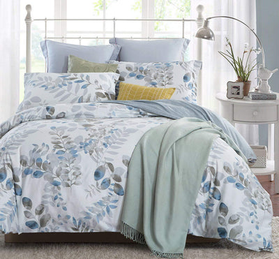 100% Cotton Floral Print Duvet Cover Set