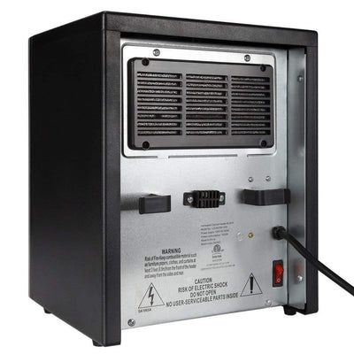 Infrared Electric Portable Space Heater Black