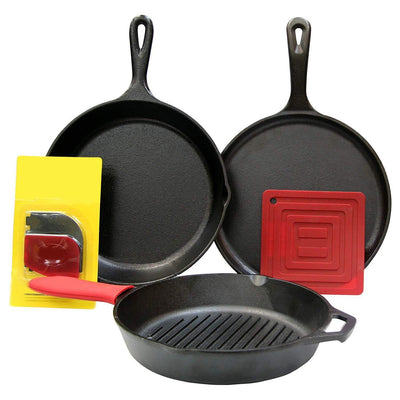Iron 5 Piece Bundle Cookware Set