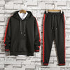 Solid Color Letter Stripe Ride Men's Sports Suit