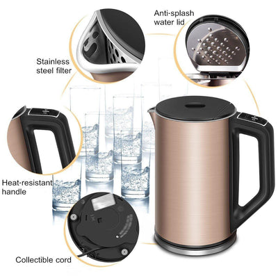 Double Wall Stainless Steel Electric Water Boiler