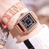 Women Waterproof Square Watch