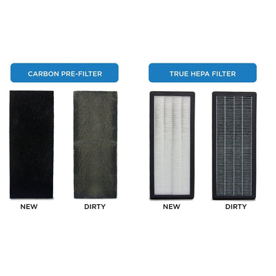 Air Purifier & 4 Premium Activated Carbon Pre Filters