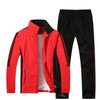 Casual Lapel Polyester Stripe Men's Sports Suit