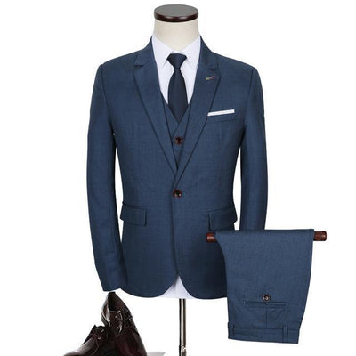 Slim Fit High Quality Men's 3 Piece Formal Suits