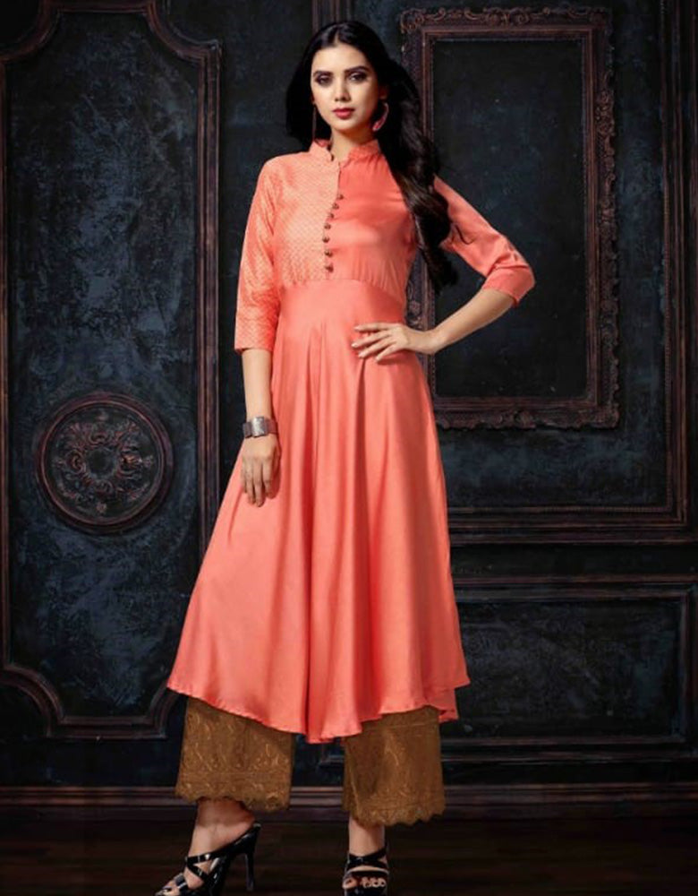 Buttoned Plain Kurti (Indian Wear Kurti)