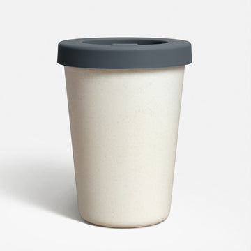 Nought bamboo fibre reusable coffee cup with lid