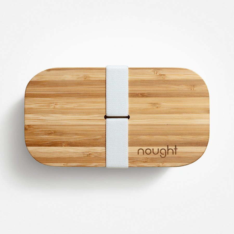 Nought bamboo reusable lunchbox lid