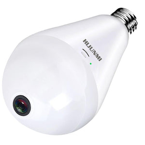 Light Bulb Camera WIFI 1080P HD 360 Fisheye Wireless Security Camera Home LED Light Cameras Motion Detection & Night Vision - HIJUNMI Wifi Home Security Camera