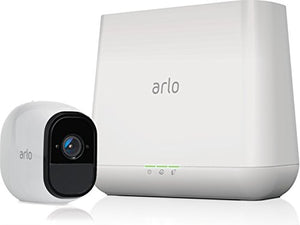 Arlo Pro - Wireless Home Security Camera System with Siren | Rechargeable, Night vision, Indoor/Outdoor, HD Video, 2-Way Audio, Wall Mount | Cloud Storage Included | 3 camera kit (VMS4330) - HIJUNMI Wifi Home Security Camera