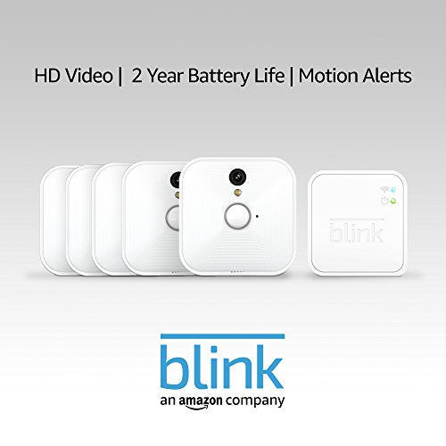 Blink Indoor Home Security Camera System with Motion Detection, HD Video, 2-Year Battery Life and Cloud Storage Included - 1 Camera Kit - HIJUNMI Wifi Home Security Camera