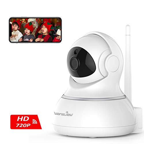 Wansview Wireless Security Camera, WiFi Home Monitor Surveillance Camera for Baby/Elder/ Pet/Nanny Monitor, Pan/Tilt, Two-Way Audio & Night Vision Q3(Black)