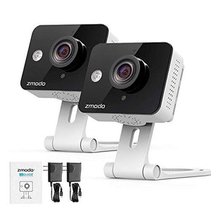 Zmodo Wireless Security Camera System (4 Pack) , Smart Home HD Indoor Outdoor WiFi IP Cameras with Night Vision, 1-month Free Cloud Recording - HIJUNMI Wifi Home Security Camera