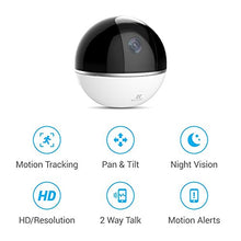 Load image into Gallery viewer, EZVIZ Mini 360 Plus 1080p HD Pan/Tilt/Zoom Home Security Camera - WiFi Surveillance System, Works with Alexa, Motion Tracking, Night Vision, Image Touch Navigation - HIJUNMI Wifi Home Security Camera
