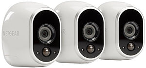 Arlo - Wireless Home Security Camera System with Motion Detection | Night vision, Indoor/Outdoor, HD Video, Wall Mount | Cloud Storage Included | 1 camera kit (VMS3130) - HIJUNMI Wifi Home Security Camera
