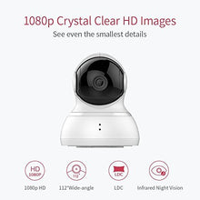 Load image into Gallery viewer, YI Dome Camera, 1080p HD Indoor Pan/Tilt/Zoom Wireless IP Security Surveillance System with Night Vision, Motion Tracking - Cloud Service Available (White) - HIJUNMI Wifi Home Security Camera