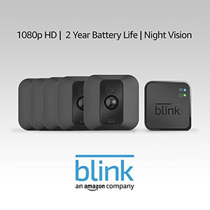 Blink XT Home Security Camera System with Motion Detection, Wall Mount, HD Video, 2-Year Battery Life and Cloud Storage Included - 3 Camera Kit - HIJUNMI Wifi Home Security Camera