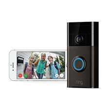 Load image into Gallery viewer, Ring Wi-Fi Enabled Video Doorbell in Satin Nickel, Works with Alexa - HIJUNMI Wifi Home Security Camera