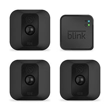 Load image into Gallery viewer, Blink XT Home Security Camera System with Motion Detection, Wall Mount, HD Video, 2-Year Battery Life and Cloud Storage Included - 3 Camera Kit