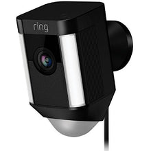Load image into Gallery viewer, Ring Spotlight Cam Wired: Plugged-in HD security camera with built-in spotlights, two-way talk and a siren alarm, White, Works with Alexa - HIJUNMI Wifi Home Security Camera