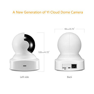YI Cloud Home Camera, 1080P HD Wireless IP Security Camera Pan/Tilt/Zoom Indoor Surveillance System with Night Vision, Motion Detection and Baby Crying Detection, Remote Monitor with iOS, Android App - HIJUNMI Wifi Home Security Camera