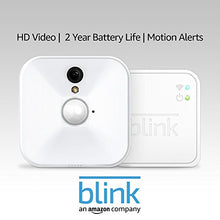 Load image into Gallery viewer, Blink Indoor Home Security Camera System with Motion Detection, HD Video, 2-Year Battery Life and Cloud Storage Included - 1 Camera Kit - HIJUNMI Wifi Home Security Camera
