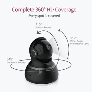 YI Dome Camera 1080p HD Pan/Tilt/Zoom Wireless IP Security Surveillance System with Auto-Cruise, Motion Tracker, Activity Alert, Night Vision, iOS, Android App - Cloud Service Available (Black)