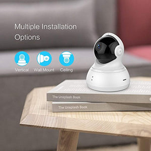 YI Dome Camera Pan/Tilt/Zoom Wireless IP Indoor Security Surveillance System 720p HD Night Vision, Motion Tracker, Auto-Cruise, Remote Monitor with iOS - HIJUNMI Wifi Home Security Camera