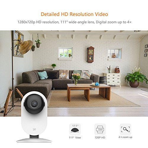 YI Home Camera, Security Camera Wireless IP Surveillance Camera with Night  Vision Activity Detection Alert Baby Monitor, Remote Monitor with iOS,