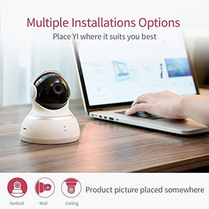 YI Dome Camera, 1080p HD Indoor Pan/Tilt/Zoom Wireless IP Security Surveillance System with Night Vision, Motion Tracking - Cloud Service Available (White) - HIJUNMI Wifi Home Security Camera