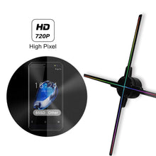 Load image into Gallery viewer, HIJUNMI WIFI 3D Hologram Projector Fan, 65CM Four Axil Design Video Projector,LED Display Advertising Holographic Light,APP Control - HIJUNMI Wifi Home Security Camera