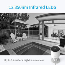 Load image into Gallery viewer, YI Outdoor Security Camera, 1080p Cloud Cam 2.4G Wireless IP Waterproof Night Vision Surveillance System with Two-Way Audio, Motion Detection, Activity Alert, Deterrent Alarm - iOS, Android App