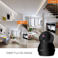 Load image into Gallery viewer, HIJUNMI Home Security Camera 1080P, Include 32GB Card FHD Wireless IP Pan/Tilt/Zoom Cam,WiFi Surveillance Dome Cameras,Two-Way Audio,Motion Detection - HIJUNMI Wifi Home Security Camera
