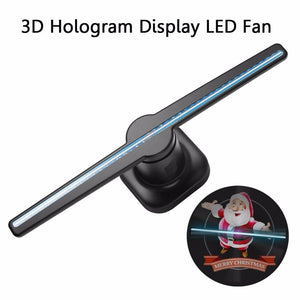"HIJUNMI 3D Hologram Advertising Led Fan 42CM/16.54"" Player Display Holographic Holograma Light LOGO Projector Projection For Signage - HIJUNMI Wifi Home Security Camera"