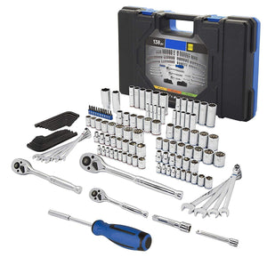 Standard/Metric Mechanic's Tool Set with Case