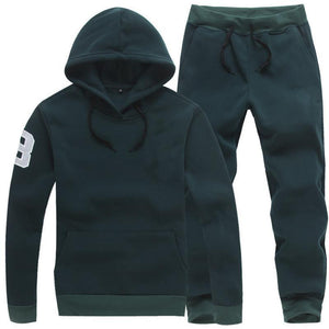Thickened Long Sleeve Hooded Outdoor Men's Tracksuit