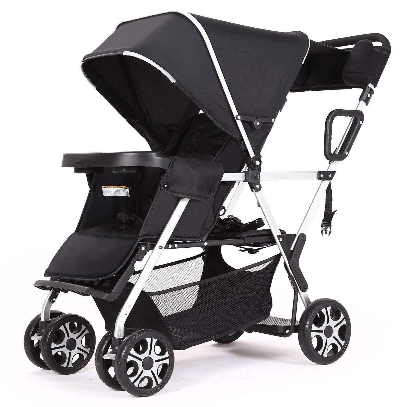 Double Pushchair For Toddler Girls And Boys