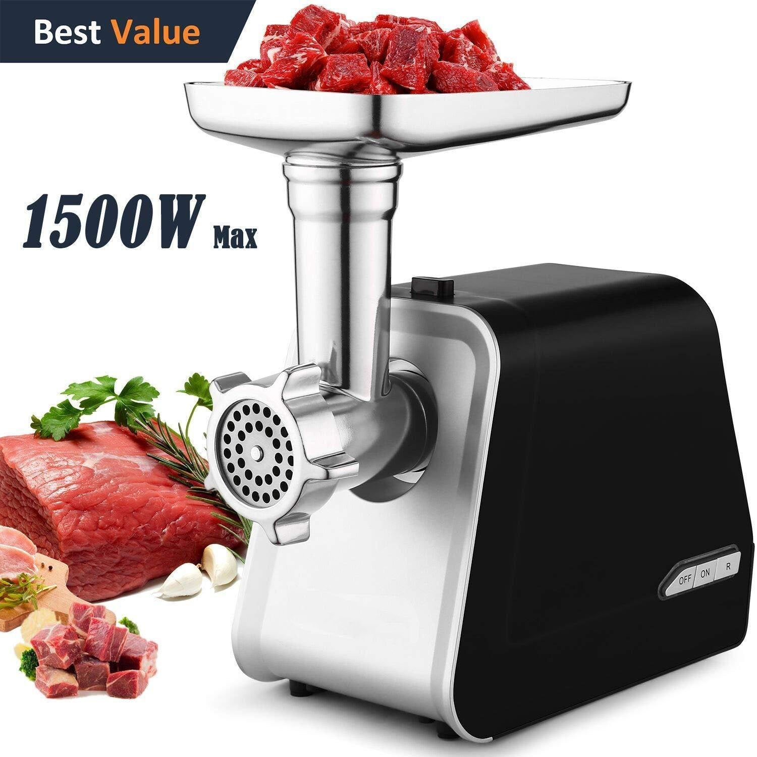 Electric Meat Grinder With 3 Grinding Plates