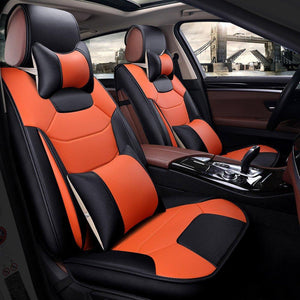 Faux Leather Seat Cushion Fit Car Seat