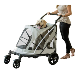 Push Button Zipperless Dual Entry Pet Stroller