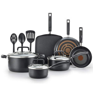 Nonstick Pots and Pans Set,12 Piece,Black
