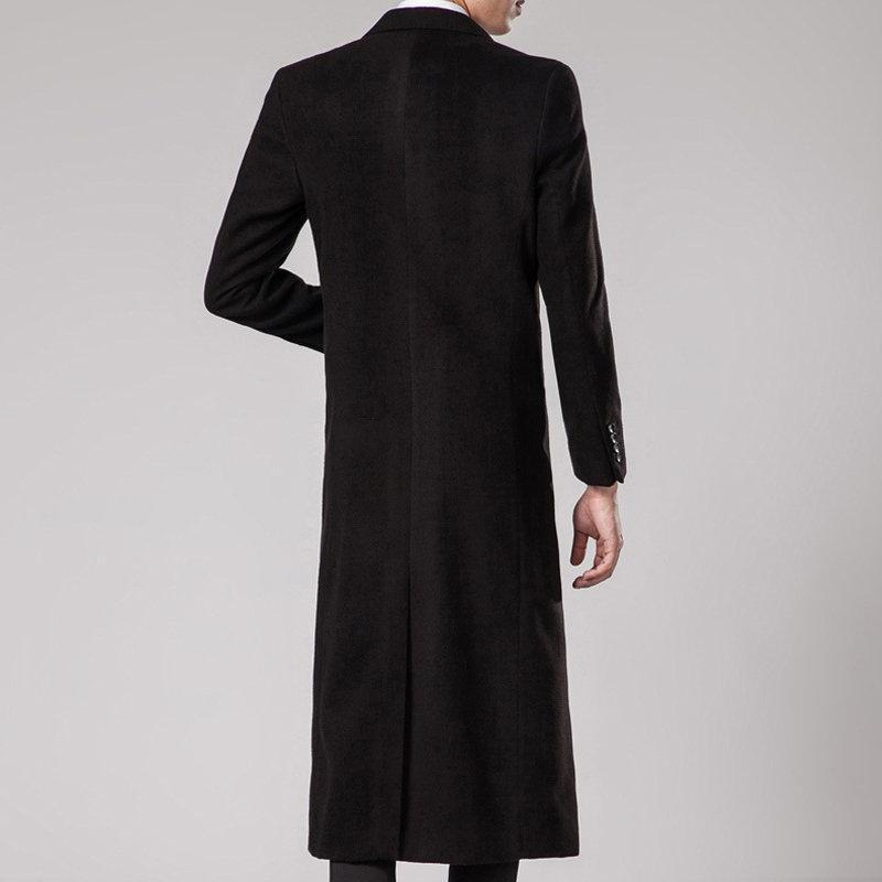 Long Style Woolen Casual Trench Coat