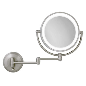 Satin Nickel LED Lighted Wall Mount Mirror