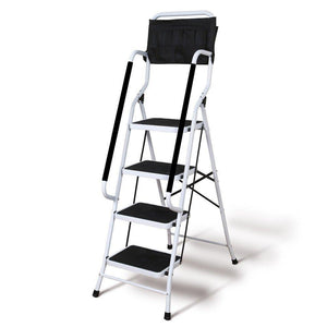 Folding 4-Step Safety Step Ladder