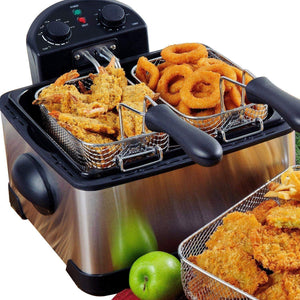 Stainless-Steel Triple Basket Electric Deep Fryer