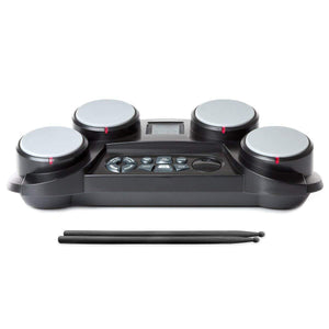 Portable Tabletop Electronic Drum Kit with Drumsticks