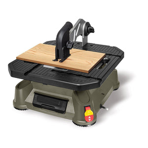 Portable Tabletop Saw with Steel Rip Fence, Miter Gauge, and 7 Accessories